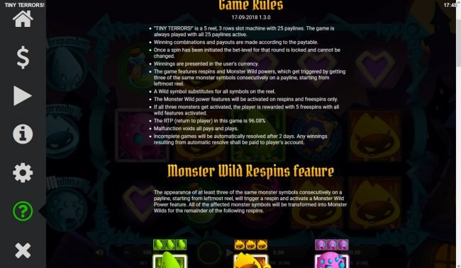 Tiny Terrors :: General Game Rules