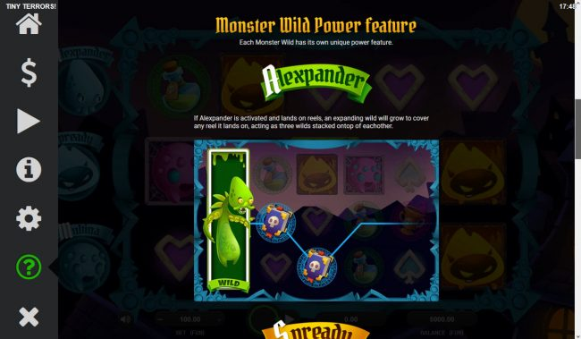 Tiny Terrors :: Alexpander Feature Rules