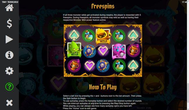 Tiny Terrors :: Free Spins