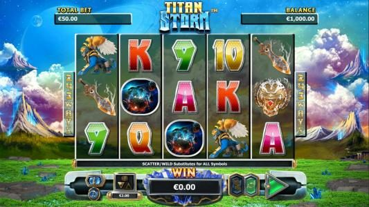 Play slots at Play Club Casino: Play Club Casino featuring the Video Slots Titan Storm with a maximum payout of $4,000