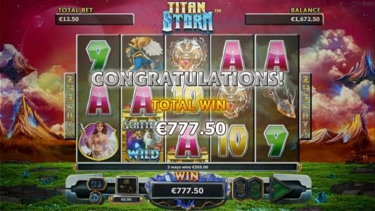 Bonus game pays out a total win of €777.50