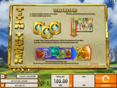 Wild Slots featuring the Video Slots Titan Thunder with a maximum payout of $200,000
