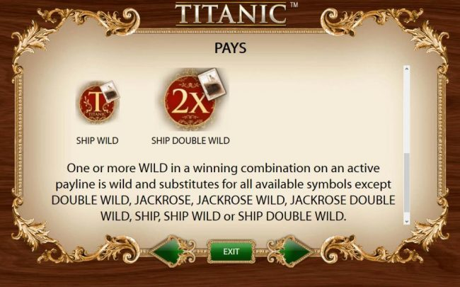 BGO Vegas featuring the Video Slots Titanic with a maximum payout of $250,000