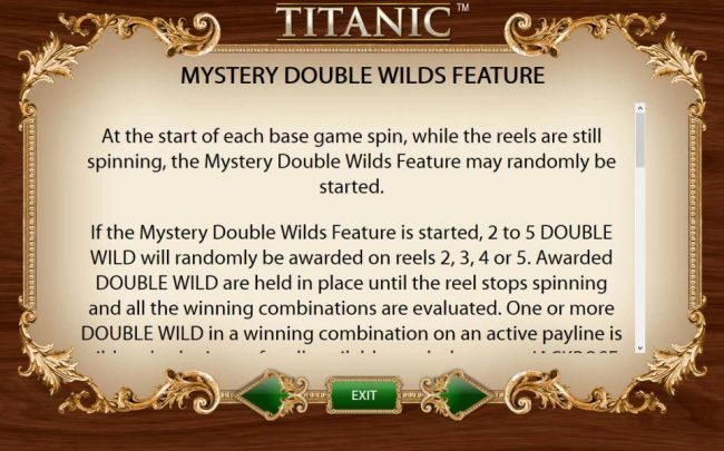 Norske Casino featuring the Video Slots Titanic with a maximum payout of $250,000