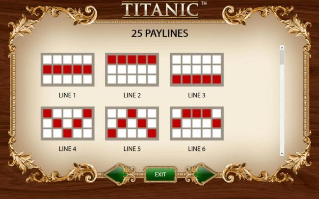 Payline Diagrams 1-6
