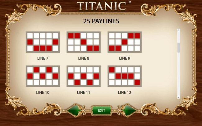 Payline Diagrams 7-12