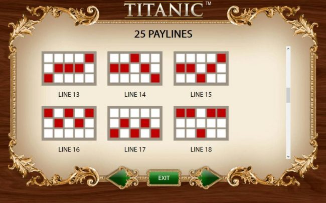 Payline Diagrams 13-18