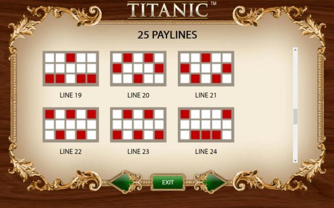 Payline Diagrams 19-24