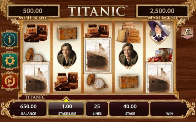 Three RMS Titanic scatter symbols triggers the Wheel feature.
