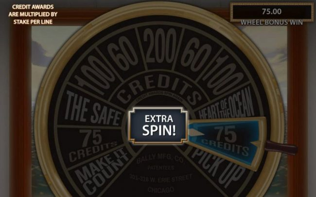 Landed on 75 credits. When landing on one of the credits you will be awarded an extra spin.