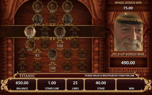 Keep making selection for each successive row. Pick feature game play ens when a multiplier is revealed with a selection.
