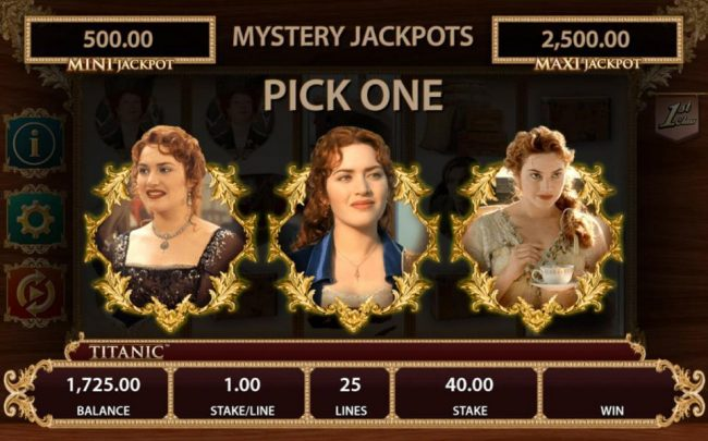 Mystery Jackopts Feature Triggered - Pick one of the ladies portraits to reveal a prize.