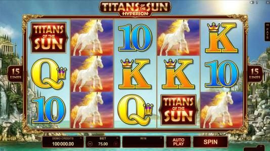 Casino Moons featuring the Video Slots Titans of the Sun - Hyperion with a maximum payout of $375,000