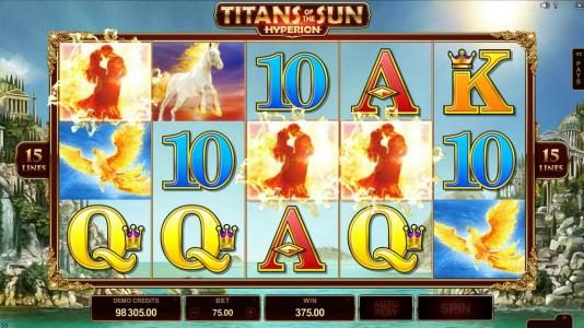 Play slots at King Neptunes: King Neptunes featuring the Video Slots Titans of the Sun - Hyperion with a maximum payout of $375,000
