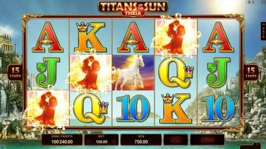 Blackjack Ballroom featuring the Video Slots Titans of the Sun - Theia with a maximum payout of $400,000
