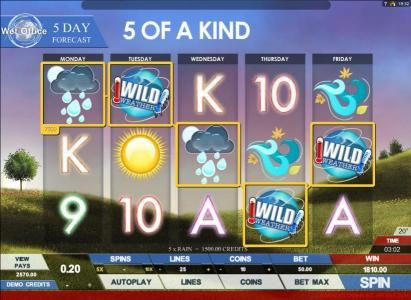 Conquer featuring the Video Slots Today's Weather with a maximum payout of $4,000