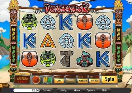 Bella Vegas featuring the Video Slots Tomahawk with a maximum payout of $875