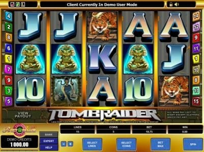 Play slots at Energy: Energy featuring the Video Slots Tomb Raider with a maximum payout of $37,500