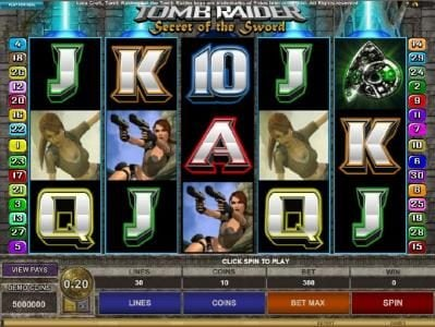 Play slots at Players Palace: Players Palace featuring the Video Slots Tomb Raider Secret of the Sword with a maximum payout of $15,000