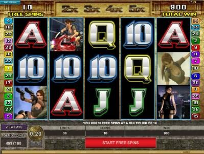 Luxury featuring the Video Slots Tomb Raider Secret of the Sword with a maximum payout of $15,000