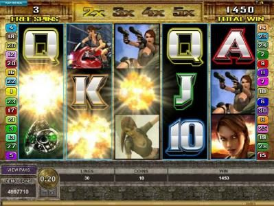 Captain Cooks featuring the Video Slots Tomb Raider Secret of the Sword with a maximum payout of $15,000