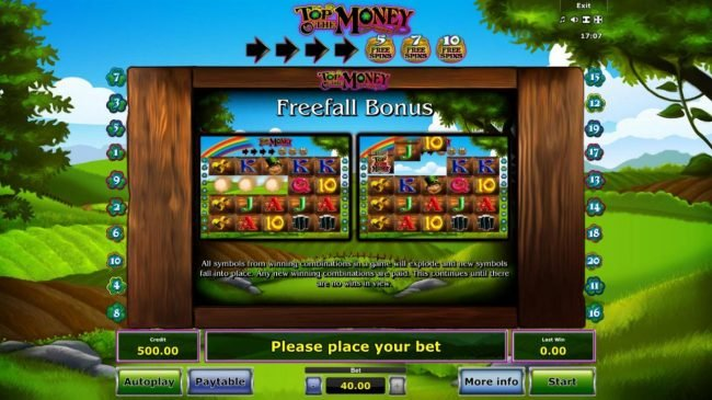 Play slots at AC Casino: AC Casino featuring the Video Slots Top O' the Money with a maximum payout of $20,000