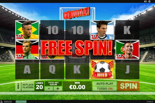 Titanbet.it featuring the Video Slots Top Trumps Football Stars Sporting Legends with a maximum payout of $10,000