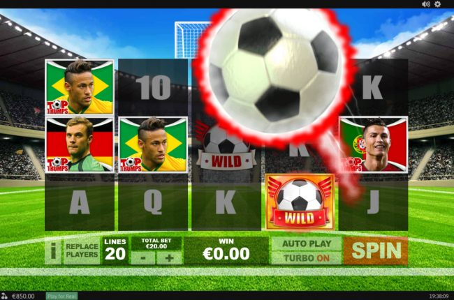EuroMax Play featuring the Video Slots Top Trumps Football Stars Sporting Legends with a maximum payout of $10,000