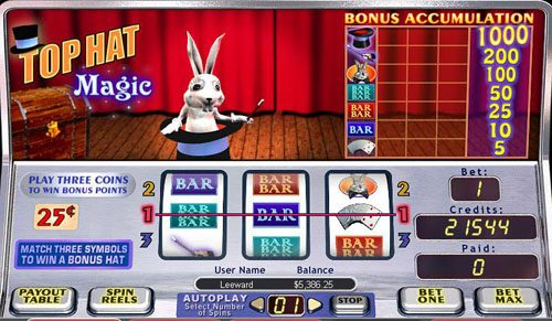 Play slots at Fruity Vegas: Fruity Vegas featuring the video-Slots Top Hat Magic with a maximum payout of 1,000x