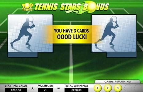 Gorilla featuring the Video Slots Top Trumps - Tennis Stars with a maximum payout of $500,000