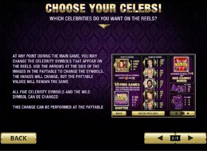 choose your celebs to be on the reels