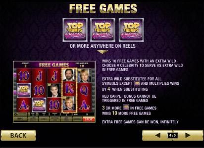 African Palace featuring the Video Slots Top Trumps Celebs with a maximum payout of $100,000