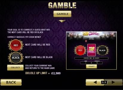 gamble feature is available with every winning jackpot