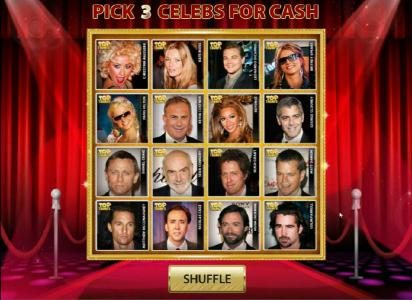 pick 3 celebs for cash prizes