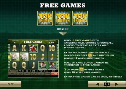 three top trumps symbols or more wins 10 free games