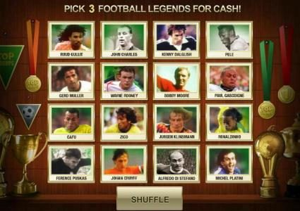 pick 3 football legends for cash