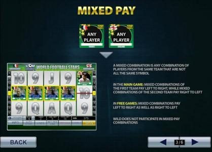 AdamEve featuring the Video Slots Top Trumps World Football Stars with a maximum payout of $500,000