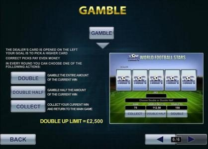 gamble feature is available after every winning spin