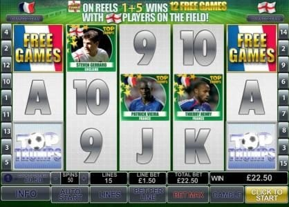 Titanbet.it featuring the Video Slots Top Trumps World Football Stars with a maximum payout of $500,000