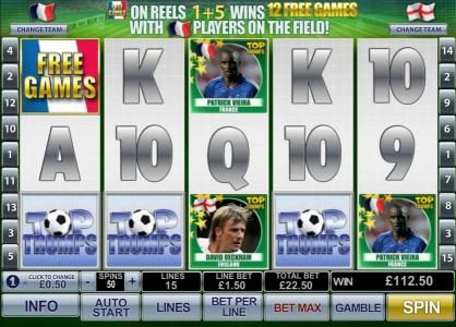 Euro Grand featuring the Video Slots Top Trumps World Football Stars with a maximum payout of $500,000