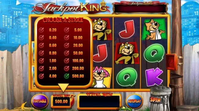 Gala featuring the Video Slots Top Cat with a maximum payout of Jackpot