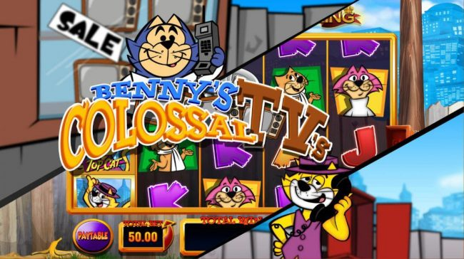 Egypt Slots featuring the Video Slots Top Cat with a maximum payout of Jackpot