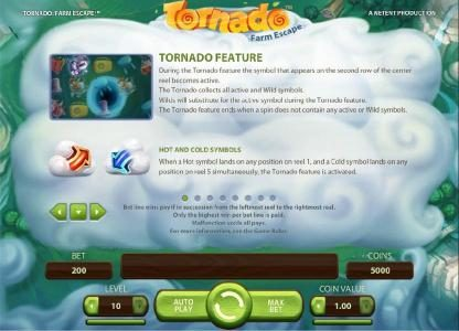 CKcasino featuring the Video Slots Tornado Farm Escape with a maximum payout of $7,000