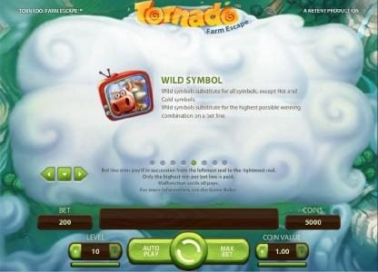 Sun Play featuring the Video Slots Tornado Farm Escape with a maximum payout of $7,000
