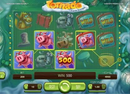 Betchan featuring the Video Slots Tornado Farm Escape with a maximum payout of $7,000