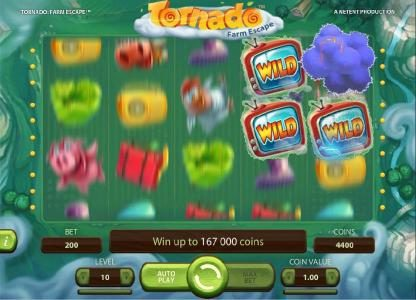 Slots Angel featuring the Video Slots Tornado Farm Escape with a maximum payout of $7,000