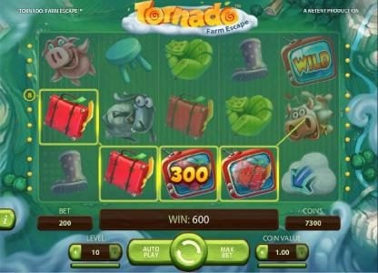 Magik Slots featuring the Video Slots Tornado Farm Escape with a maximum payout of $7,000