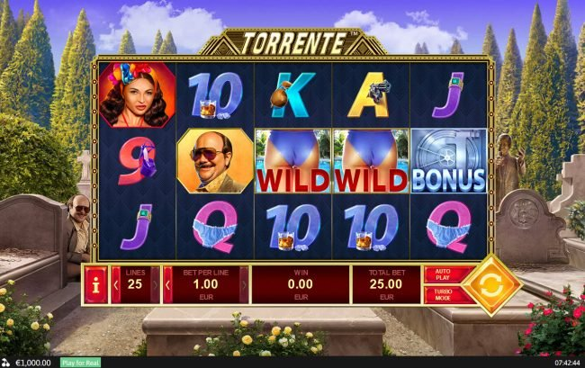 Omni featuring the Video Slots Torrente with a maximum payout of $125,000