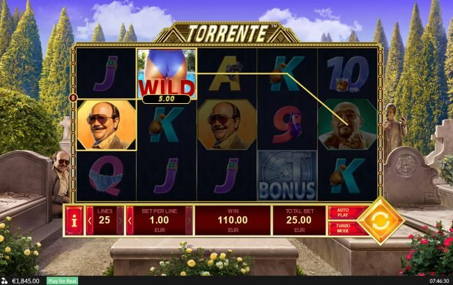 21 Nova featuring the Video Slots Torrente with a maximum payout of $125,000