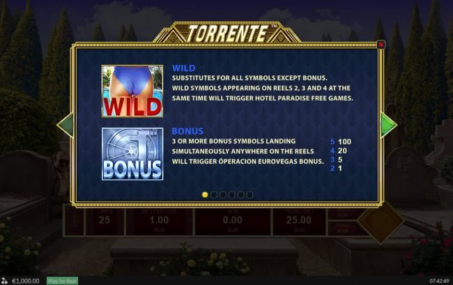 Play slots at King Solomons: King Solomons featuring the Video Slots Torrente with a maximum payout of $125,000